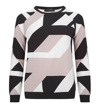 Lofty Manner Sweaters Roze dessin