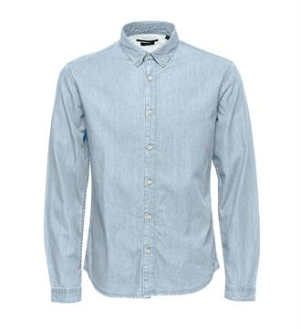 Only and Sons Lange mouw overhemden OnsCarlo Blue denim