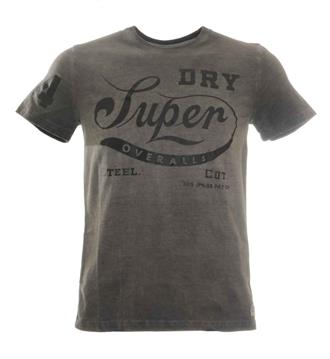 Superdry T-shirts Antraciet