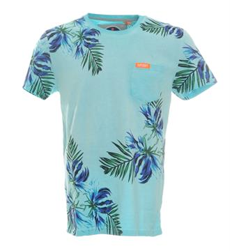 Superdry T-shirts Groen dessin