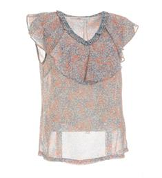 Aaiko Singlets Silly floral Blauw dessin
