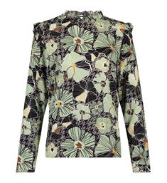 Aaiko Tops France floral 655 Groen