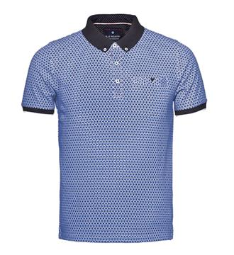 Blue Industry Polo's Blauw dessin