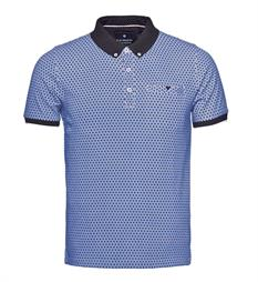 Blue Industry Polo's Kbis17-m29 Blauw dessin