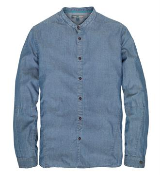 Cast Iron Lange mouw overhemden Blue denim