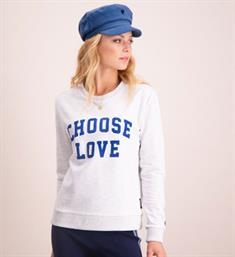 Catwalk Junkie Sweatshirts Sw choose love Grijs