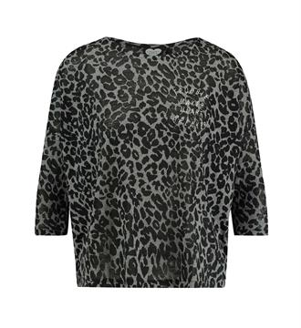 Catwalk Junkie T-shirts Ls grey leo Antraciet