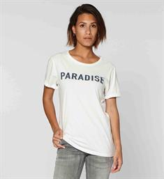 Circle of Trust Korte mouw T-shirts S19.45.4163 paradise tee Wit