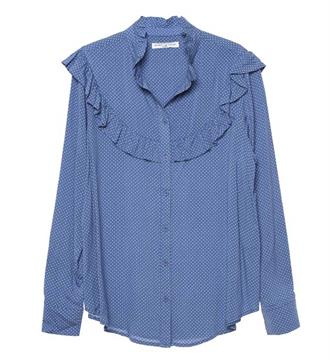 Circle of Trust Lange mouw blouses S18.47.5011 Blauw dessin
