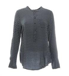 Circle of Trust Lange mouw blouses W17.57.5950 Blauw dessin