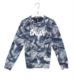 Crush Denim Fleece truien 11811110 colour Blauw