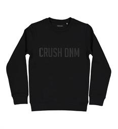 Crush Denim Fleece truien Basicsweat002 Zwart