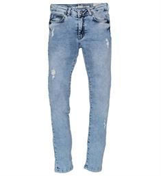 Crush Denim Skinny jeans 11810102 pintuc Blue denim