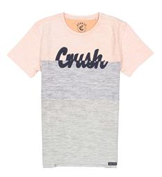 Crush Denim T-shirts Tony 21811506 Grijs dessin