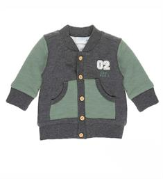 Feetje newborn Fleece vesten 513.00288 Army dessin