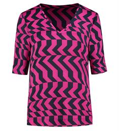 Fifth House Korte mouw T-shirts Fh6-351 1902 Fuchsia
