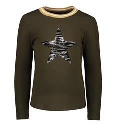 Flo Lange mouw T-shirts F908-5401 Army