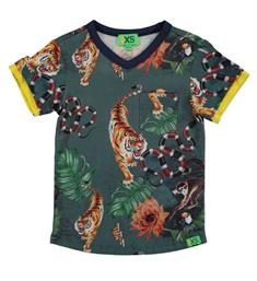 Funky XS Korte mouw T-shirts Ab african tee Groen