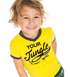 Funky XS Korte mouw T-shirts Ab jungle tee Geel