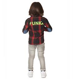 Funky XS Lange mouw blouses Ub check shirt