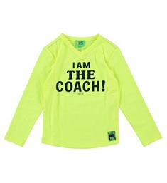 Funky XS T-shirts Fs coach tee Geel