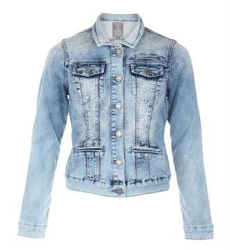 Geisha Denim jackets 85012k Bleached denim