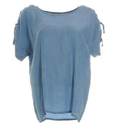 Geisha Tops 83318 Light blue denim
