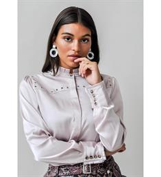 Harper and Yve Lange mouw blouses Tess-ls fw19x604 Oud roze