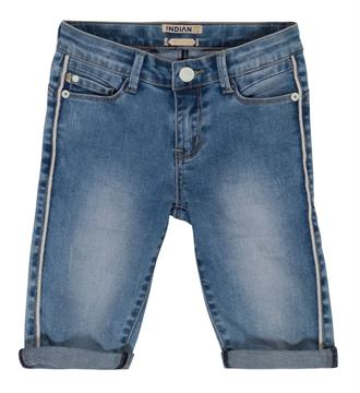 Indian Blue Jeans Capri Ibg17-6013 Blue denim