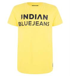 Indian Blue Jeans Korte mouw T-shirts Ibb19-3682 Geel