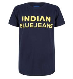 Indian Blue Jeans Korte mouw T-shirts Ibb19-3684 Navy