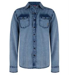 Indian Blue Jeans Lange mouw blouses Ibb19-5501 Denim