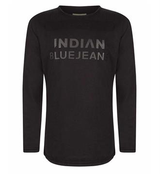 Indian Blue Jeans Lange mouw T-shirts Ibb27-3542 Zwart