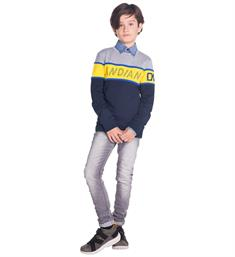 Indian Blue Jeans Sweatshirts Ibb19-4504 Navy
