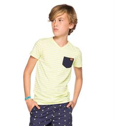 Indian Blue Jeans T-shirts Ibb18-3608 Geel dessin