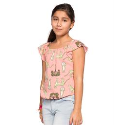 Indian Blue Jeans Tops Ibg18-5110 Peach dessin