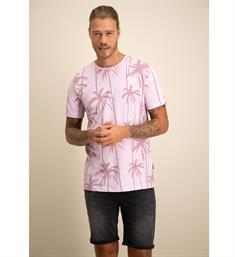Kultivate Korte mouw T-shirts Ts purple palms Paars
