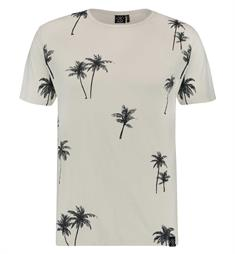 Kultivate T-shirts Ts big palm Ecru
