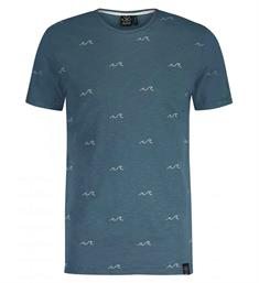 Kultivate T-shirts Ts big wave Blauwgroen