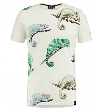 Kultivate T-shirts Ts cameleon Wit dessin