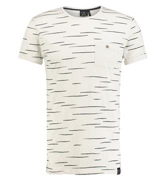 Kultivate T-shirts Ts chalky strip Ecru