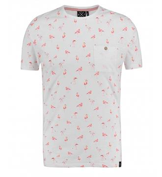 Kultivate T-shirts Ts pink birds Ecru