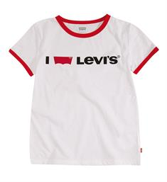 Levi's Korte mouw T-shirts Np10567 love levis rin tee Wit
