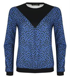 Lofty Manner Fleece truien Bona Blauw dessin