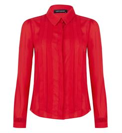 Lofty Manner Lange mouw blouses Leza Rood