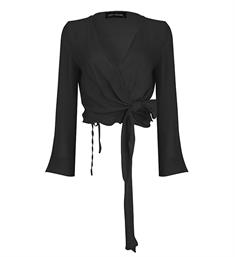 Lofty Manner Lange mouw blouses Valery Zwart