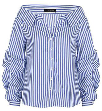 Lofty Manner Lange mouw blouses Zita Blauw dessin