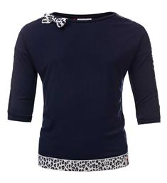 Looxs Lange mouw T-shirts 911-5424-190 Navy