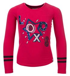 Looxs T-shirts 707-5403 Cherry red