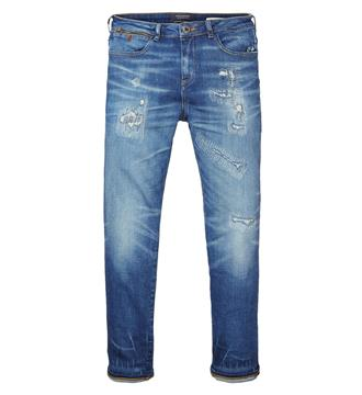 Maison Scotch Baggy jeans 135268 Blue denim